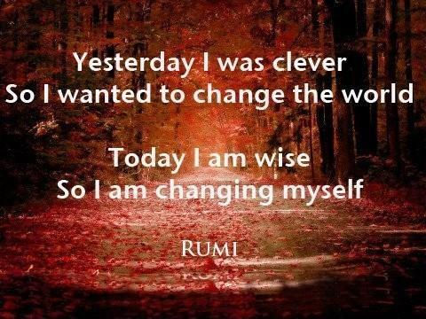 yesterday-i-was-clever-so-i-wanted-to-change-the-world-today-i-am-wise-so-i-am-changing-myself-quote-1